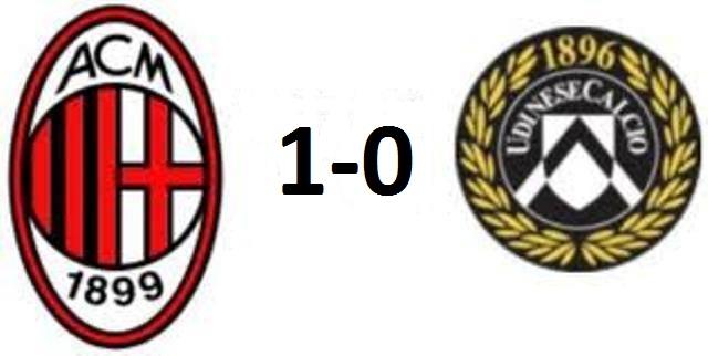 Milan-Udinese 1-0: le pagelle semiserie dei rossoneri
