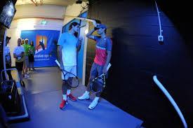 Splendida immagine che ritrae Federer e Nadal negli spogliatoi prima della semifinale (foto presa da rafaelnadalfans.com )