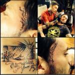 Se l'è pure tatuata quella traversa. (fonte: facebook.com)