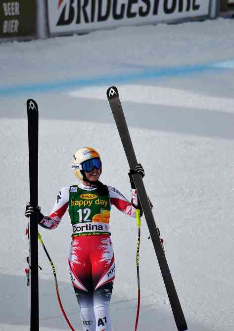 Cornelia Huetter. Grande sorpresa della stagione, si piazza quarta nel SuperG