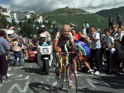 """""""Marco Pantani, 1997"""" di Hein Ciere - Wikiportrait. Con licenza CC BY 3.0 tramite Wikimedia Commons - http://commons.wikimedia.org/wiki/File:Marco_Pantani,_1997.jpg#/media/File:Marco_Pantani,_1997.jpg"""