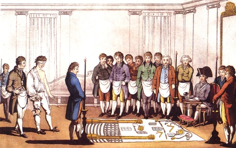 """Freimaurer Initiation"" di User:Liberal Freemason - http://de.wikipedia.org/wiki/Bild:Freimaurer_Initiation.jpg. Con licenza Pubblico dominio tramite Wikimedia Commons - https://commons.wikimedia.org/wiki/File:Freimaurer_Initiation.jpg#/media/File:Freimaurer_Initiation.jpg"